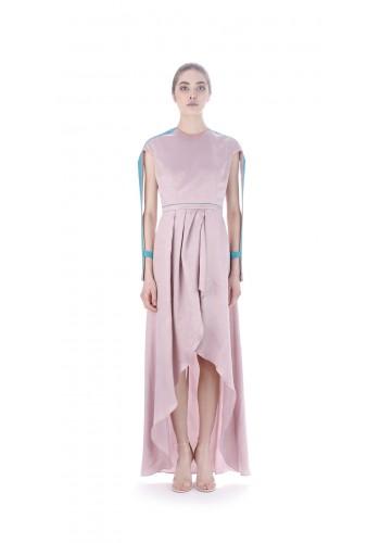 Long draped dress