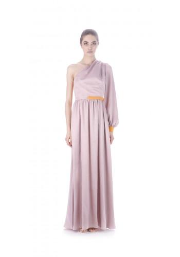 Draped long dress