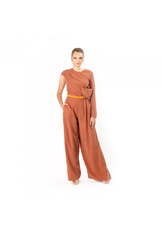 Draped Overall With Front Element
