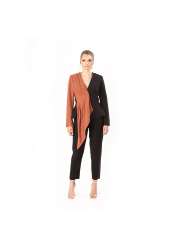 PLEATED SHOULDER JACKET