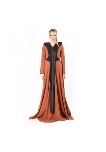FRONT PANEL DESIGN LONG DRESS